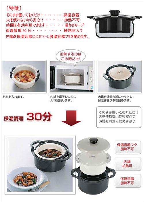 レンジでかんたんエコ調理鍋 セット内容・使い方
