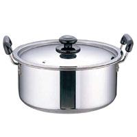 ステンレス プラ柄 厚板実用鍋(モリブデン含有ステンレス鋼)
