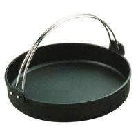 鉄 すきやき鍋 黒 ツル付