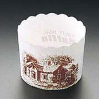 マフィンカップ ハウス柄 白